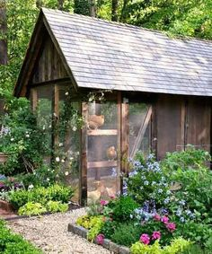 Beaitiful chicken coop. via This Old House