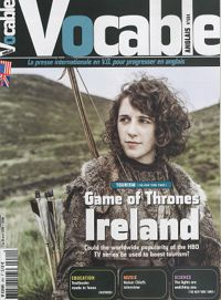 """Ireland, North by North-Westeros dans Vocable (Anglais) (N°684) paru le 03 Avril 2014 en p.6-8 par Stephanie Rosenbloom  Présentation de lieux de tournage de la série """"Game of Thrones"""" en Irlande et de leur influence sur la fréquentation touristique. La forêt de Dark Hedges : impact de la série télévisée sur le tourisme, campagne du Bureau du tourisme irlandais. Effets du tourisme à Belfast : historique des combats entre loyalistes et nationalistes dans la capitale. Activités culturelles et…"""