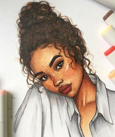 127 best art images on black women art, girl drawings Black Girl Art, Black Women Art, Black Art, Black Girls, Dope Art, Character Drawing, Main Character, Character Design, Cute Drawings