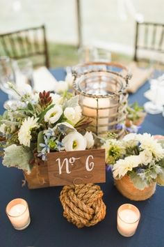 Nautical hamptons wedding beach wedding centerpieces hamptons nautical inspired seaside wedding junglespirit Image collections