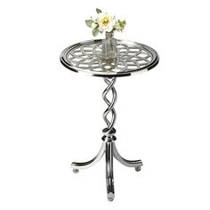 Butler Specialty 1169260 Modern Expressions Accent Table  Modern Expressions Accent TableA braided pedestal, swooping legs and alluring web top give this