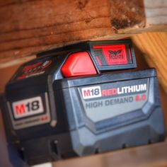 Milwaukee M18 M 18v Battery Adapter Dock Holder New Milwaukee Tools, Milwaukee M12, Power Tool Storage, Tool Organization, Clutter, Organize, Hardware, Simple, Shop