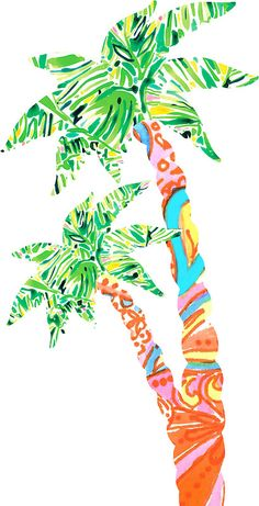«Palm Tree in Lilly Pulitzer Print» de mirmaids