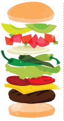 Build-a-Burger custom web site application © Think Baseline, for Freez King (restaurant) #web design #graphic design http://build-a-burger.freezking.com
