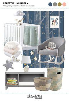 Celestial Nursery - using starry decor for a dream-like feel