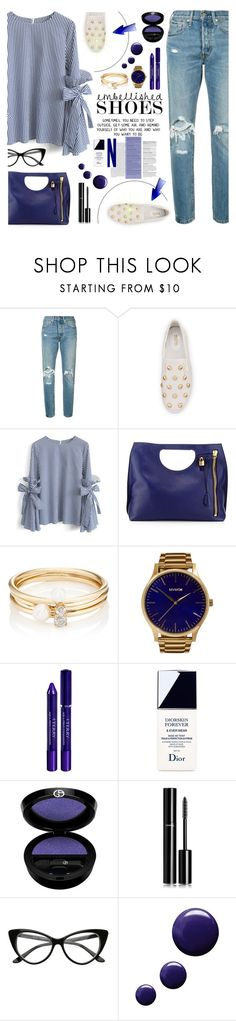 """""""Embellished Shoes"""" by tamara-p ❤ liked on Polyvore featuring Levi's, MICHAEL Michael Kors, Chicwish, Free People, Loren Stewart, MVMT, By Terry, Christian Dior, Giorgio Armani and Chanel"""