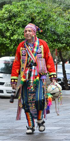 Colorful Man, Downtown Asuncion, August 2013
