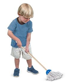 Melissa & Doug Let's Play House! Dust Sweep & Mop - Set of Six