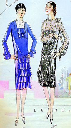 April 1928 Fashion by christine592, via Flickr