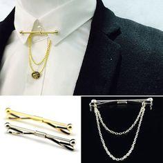 Hot Mens Tie Clip Bar Clasp Cravat Pin Silver Gold Necktie Skinny Collar Brooch | eBay