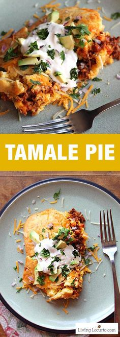 Tamale Pie is a simple to make homemade Mexican casserole recipe. Full of spices and lots of flavor, your family will love this for dinner! Perfect for party food for a crowd.