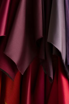 Empress Satin (top row) Faux Douppioni (bottom row): With a viscose composition that adds the natural luster and shine of silk, Trend offers Faux Douppioni, a new faux silk available in more than 57 colorways. Trend Fabrics, Satin Top, Fabric Decor, Luster, Composition, Branding Design, Silk, Natural, Musical Composition