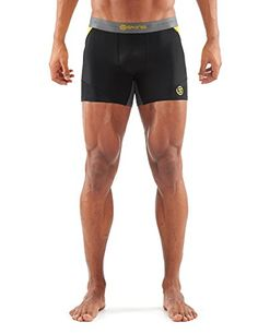 SKINS Mens DNAmic Mens Compression Shorts blackCitron Large *** Check out  this great product