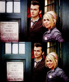 Rose and Ten <3  I was pinning all my DW stuff on a general geek board, but I decided this show deserves it's own board because I love it so much. :)