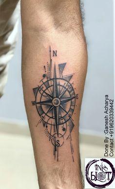 Compass tattoo - compass tattoo at in jayanagar -tattoo by ganesh acharya, - Compass Tattoos Arm, Compass Tattoo Design, Mandala Tattoo Design, Arrow Tattoos, Tattoo Designs, Life Tattoos, Body Art Tattoos, Tribal Tattoos, Tattoos For Guys