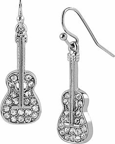 Shop Betsey Johnson Dresses, Shoes, Handbags, Accesories & more! Betsey Johnson Dresses, Nail Accessories, Fashion Earrings, Hair And Nails, Style Me, Guitar, Style Inspiration, Drop Earrings, Crystals