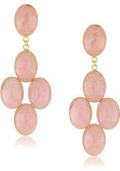 Yochi Peach Cascade Mini Chandelier Earrings Yochi. $45.00. Made in USA. Post earring