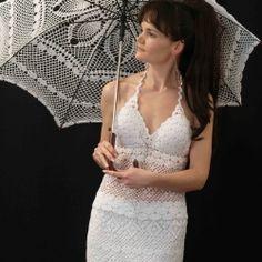 Fashion Crochet Design By Ira Rott: Lace Crochet Parasol (Umbrella) Video Lesson (weddings? Lace Umbrella, Lace Parasol, Love Crochet, Beautiful Crochet, Crochet Things, Crochet Doilies, Crochet Yarn, Filet Crochet, Crochet Designs