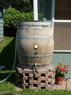 Aged wine cask rain barrel for conserving water | 9 Bargains You Don't Want To Miss This Year At The Eco Experience