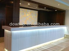 contemporary classic reception counters with led lighting - Google Search