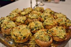 Crab, spinach, & artichoke stuffed mushrooms  Pop Ems