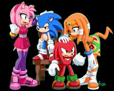 Sonic and Emra by on DeviantArt Sonic Funny, Sonic 3, Sonic And Amy, Sonic And Shadow, Sonic Fan Art, Sonic Mania, Sonic Adventure, Zootopia, Sonic The Hedgehog