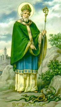Saint Patrick... and that is why Ireland doesn't have any snakes.