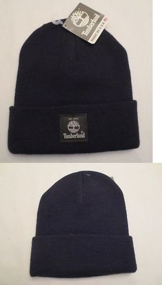 b83319f073e23 Hats 163543  Timberland Classic Knit Watch Cap Cuffed Beanie Black Hat New  Nwt Made In