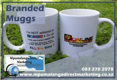 Year-end functions are around the corner, what says thank you more than a sublimated coffee mug? Get your brand branded on the mugs as a finishing touch. Whether it is for your employees or your customers there's no better way to get your brand out there, get your sublimated coffee mugs TODAY!  Min order x24= R36,92 each excl vat & courier Full-color wrap-around, visit our website for more information#mpumalangadirectmarketing #mugs #branding