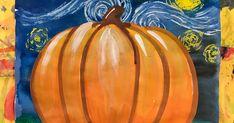 Van Gogh pumpkins (value/form lesson)