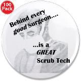"Great Scrub Techs 3.5"" Button (100 pack) for $250.00"