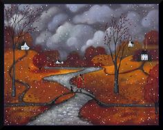 "Deborah Gregg, ""Winter Sends A Greeting"""