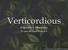 Verticordious: to turn the heart from evil Unusual Words, Weird Words, Rare Words, Unique Words, Fancy Words, Big Words, Words To Use, Great Words, Shining Tears