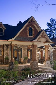 Tranquility House Plan 04159, Porch, Evening Photo