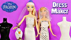 Frozen Barbie Bridal Fashion Wedding Dress Maker Disney's Froz…