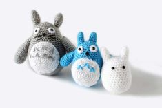 Everyone loves Totoro and now you can have your own! This post has 3 free crochet patterns for all 3 nature spirits from My Neighbor Totoro! All Free Crochet, Easy Crochet Patterns, Single Crochet, Crochet Toys, Crochet Animals, Amigurumi Patterns, Crochet Totoro, Cowboy Bebop Anime, Japanese Nature