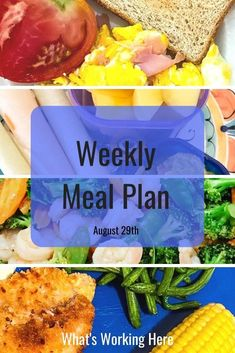 This week I'm focusing on cutting processed foods out of my diet. Check out what is on this week's menu using only whole foods. Weekly Menu Planning, Meal Planning Printable, Whole Food Recipes, Dinner Recipes, Healthy Recipes, Beachbody Meal Plan, Food Out, Portion Control, Meals For The Week