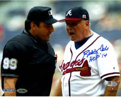 Bobby Cox Signed Arguing With Umpire 8x10 Photo w/ HOF insc (MLB Auth)