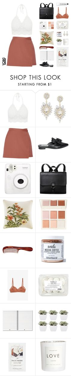 """Crochet Crop Top with Yoins"" by hiddlescat ❤ liked on Polyvore featuring Theory, Monki, Tommy Bahama, Mason Pearson, Mod Bath and Body, Abigail Ahern, H&M, L:A Bruket, yoins and yoinscollection"