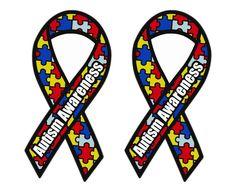 Set of 100 Autism Awareness Puzzle Ribbon Window Bumper Locker Sticker Love Special Needs Teacher, Computer Set, Autism Activities, Car Bumper Stickers, Autism Awareness, Lockers, Stencils, Puzzle, Ribbon