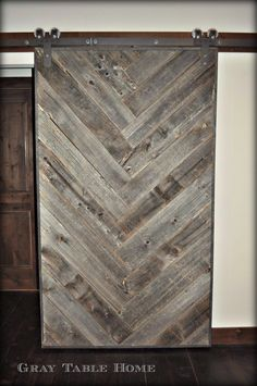 Past Project: Herringbone Barn Door