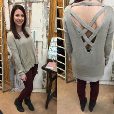 """""""#NEWARRIVALS #Crossback #sweater- $34.99 (S-L) #BigStar #skinnies- $99.99 (25-27) #FreePeople #booties- $198 (6, 6.5, 7.5, 8.5, 9, 9.5) We #ship! Call to order! 903.322.4316 #shopdcs #goshopdcs #shoplocal #love"""" Photo taken by @daviscountrystore on Instagram, pinned via the InstaPin iOS App! http://www.instapinapp.com (01/11/2016)"""