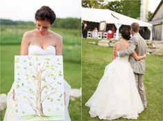 Love this wedding in Door County. Has a gorgeous barn and tent! #Wedding #Barn #Tent