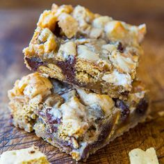 The flavors and texture of smores baked into bars is so much more practical than standing around a campfire. I'm sure you can relate. And who can resist super soft, chewy, gooey bars that are loaded with great texture. The batter is a stir-together, one bowl recipe that comes together in less than 5 minutes …