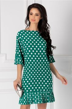 Rochii cu Imprimeuri Short Sleeve Dresses, Dresses With Sleeves, Long Sleeve, Floral, Fashion, Low Cut Dresses, Plunging Neckline, Clothing, Moda