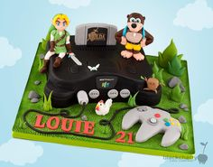 Little Cherry Cake Company - Birthday Cakes Nintendo 64, Fireman Sam Cake, Video Game Cakes, Cherry Cake, Cupcakes, Food Crush, Cake & Co, Mario Party, How To Train Your Dragon