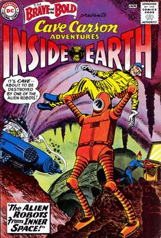 Brave and the Bold 33 GD january 1961 appearance of cave carson DC Brave And The Bold, Be Bold, Dc Comic Books, Comic Book Covers, Old Comics, Vintage Comics, Silver Age Comics, Fiction Stories, Classic Comics