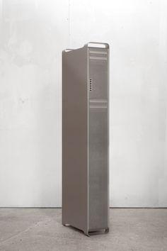 "Big Mac, 2013 Aluminum, Hard Disks, Motorized Fans. 8 x 18-3/4 x 76"" ⧗"
