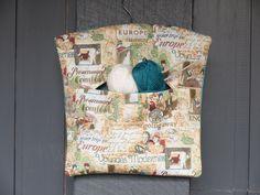 Fabric handmade European vintage travel themed peg by freshdarling Wooden Coat Hangers, Clothespin Bag, Peg Bag, Modern Vintage Homes, Art Deco Era, Vintage Ornaments, Travel Themes, Knitted Bags, Vintage Travel