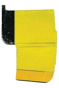 """Babette Herschberger [USA] (b ~ """"Tidbit No. Collage, found cardboard x 16 cm). Abstract Painters, Abstract Art, Subtractive Color, Object Drawing, Collage Art Mixed Media, Found Art, Abstract Sculpture, Mellow Yellow, Contemporary Art"""
